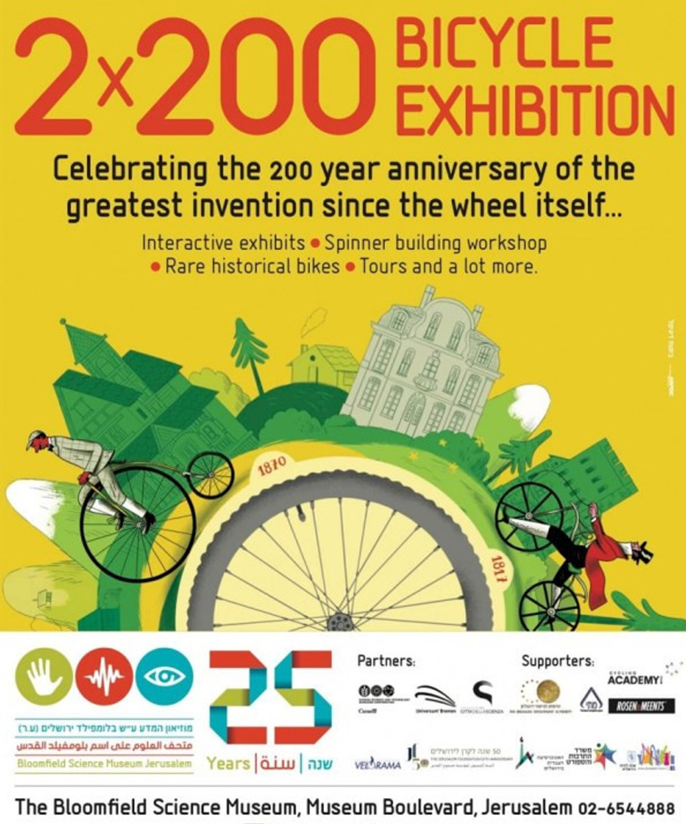 Stringbikes are the part of an exhibition on bicycle,  celebrating 200 years to this wonderful invention.